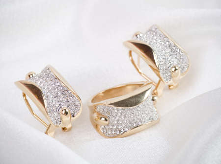 diamond rings: Beautiful jewelry on background