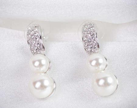 Beautiful jewelry on background photo
