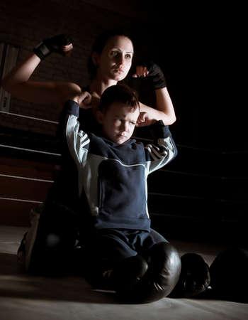 boxeadora: Familia feliz, madre con hijo