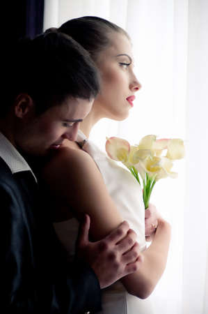 Bride and groom on their wedding day Stock Photo - 17065671