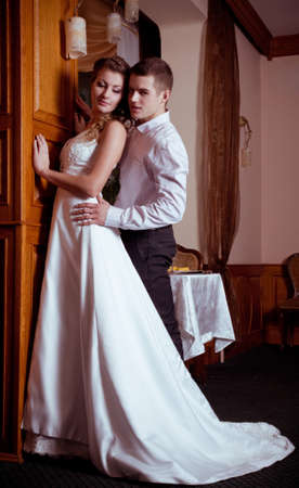 Bride and groom on their wedding day Stock Photo - 17349105