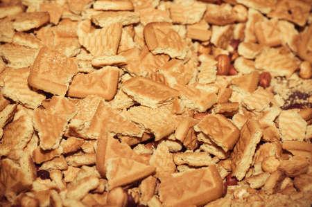 opvulmateriaal: Kleine cakes met verschillende vulling Stockfoto