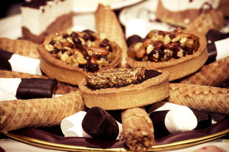 Small tasty cakes with stuffing photo
