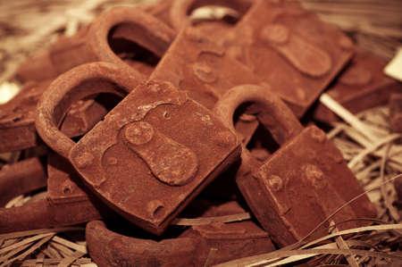 Delicious chocolate pieces Stock Photo - 19122633