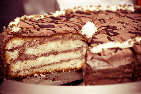 Tasty chocolate cake with stuffing Stock Photo - 19178717