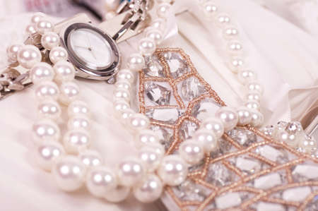 Beautiful jewelry background    Stock Photo