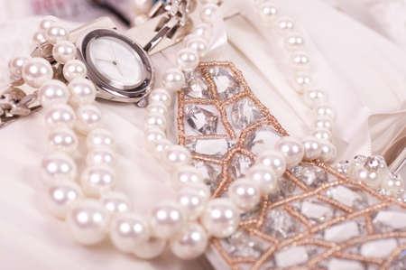 Beautiful jewelry background    Archivio Fotografico