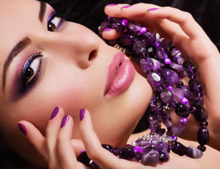 Fashion woman with jewelry precious decorations  photo