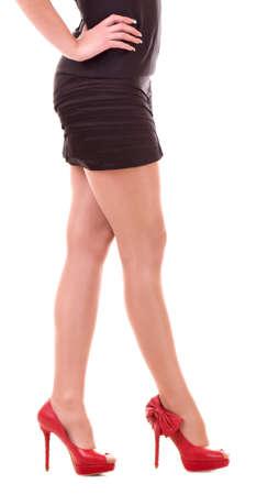 Woman s leg in high heel stiletto fetish boots Stock Photo - 22088581