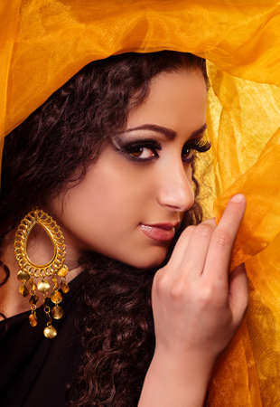 yashmak: Beautiful arabian woman in color yashmak