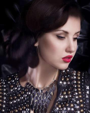 Fashion woman with jewelry precious decorations  Stock Photo - 30548608