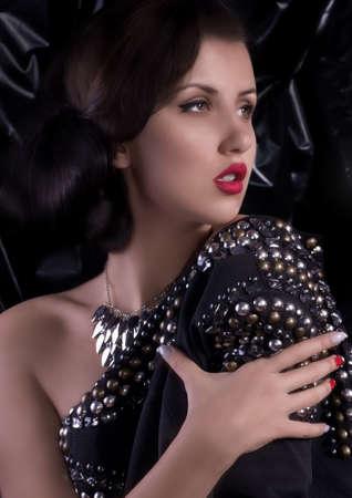 Fashion woman with jewelry precious decorations Stock Photo - 30548490