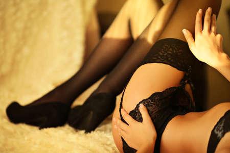 thong bikini: sexy Woman in a bikini Stock Photo
