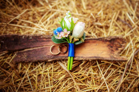 Beautiful wedding details from ceremony and reception Stock fotó
