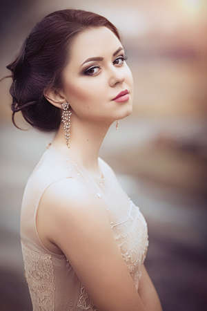 fashion girl: Portrait of beautiful young woman with makeup