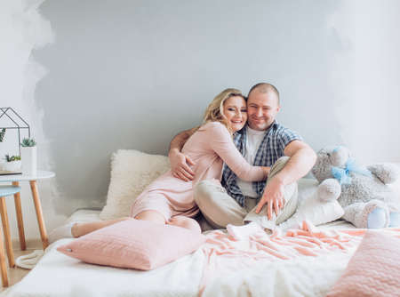 Portrait of happy and beautiful father and daughter Stock Photo