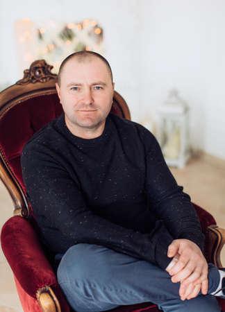 Man in a black sweater