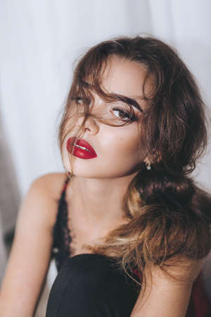 Portrait of beautiful woman with makeup Stock Photo