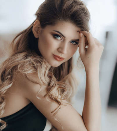 Portrait of beautiful woman with makeup Banque d'images