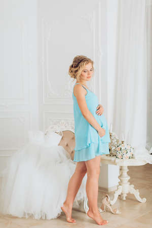 Beauty Pregnant Woman. Pregnant Belly. Beautiful Pregnant Woman Expecting Baby. Maternity concept Reklamní fotografie