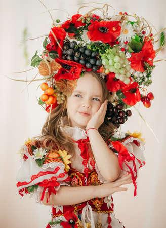 Ukrainian beautiful girl in national clothes