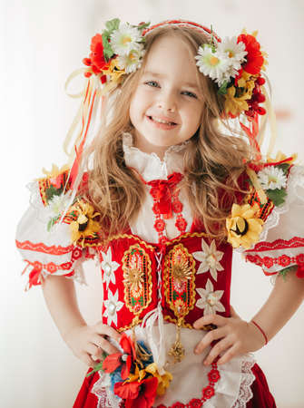 Ukrainian beautiful girl in national clothes