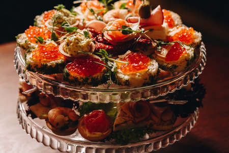 Stock Photo - Canape with red caviar