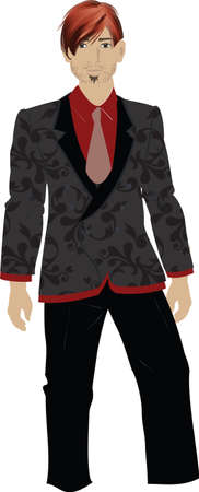 balck and white: red and black style