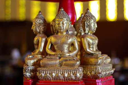 Buddha in Temple at Chiangrai Stock Photo
