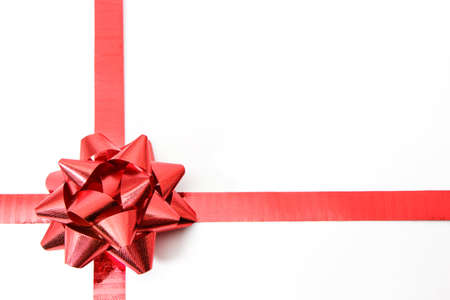 Gift bow isolated on white background Stock Photo