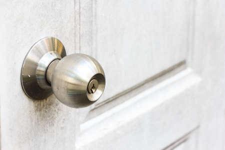 detailed shot of metal doorknob Stock Photo