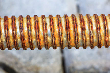 Old rusty metallic spiral isolated Stock Photo - 17124253