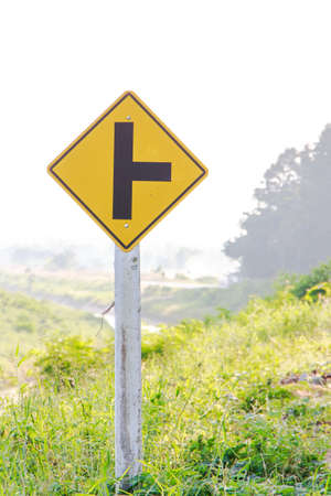 Warnning sign isolated on background Stock Photo