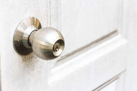 detailed shot of metal doorknob photo