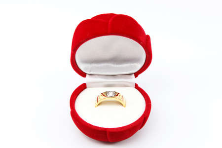 Wedding Ring in Box Isolated