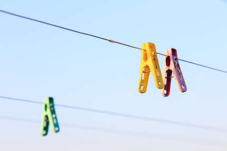 Clothes pins and a line make a great alternative to the electric dryer