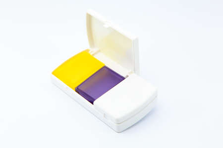 pill box: Pill Box on white Background