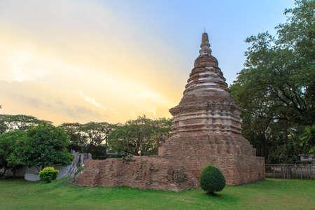 Big Pagoda isolate on background