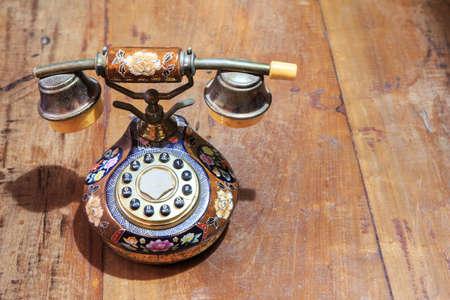 Old Telephone isolate on background