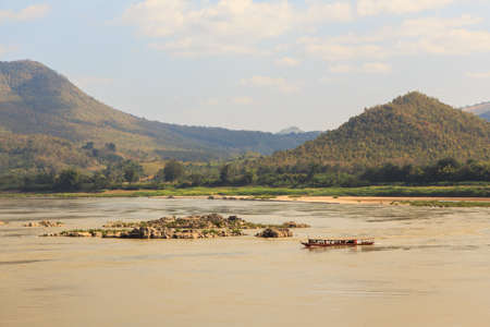 Mekong river on the border of Thailand and Laos