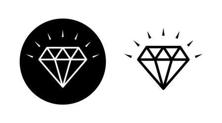 Diamond vector Line icons set illustration 向量圖像