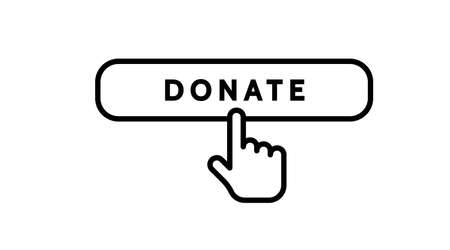 Charity donation care hope vector line icon. Hands with heart. Friendship, love, assistance, volunteer work, giving money, clothing, food, medicines, social responsibility, Interaction, support