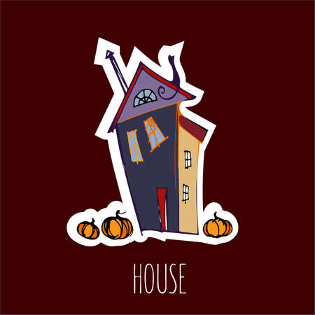 Vector handdrawn illustration. Halloween card, poster, banner invitation EPS 10 Stock fotó - 138297489