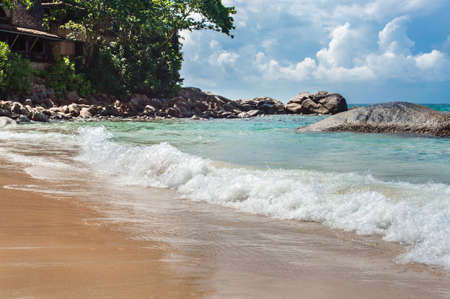 stormy waters: Coast line of sea in nice day, island of Phuket, Thailand Stock Photo