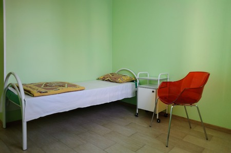 sickroom: Clean empty beds in a hospital ward