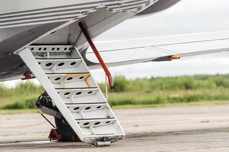 gangway: close up the gangway of a private jet