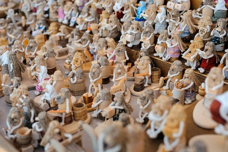 puppets: Puppets for sale on ethnic fair, old slavonic tradition.