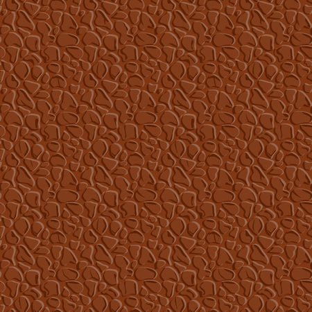 Realistic seamless leather texture. Brown leather background. Vector illustration