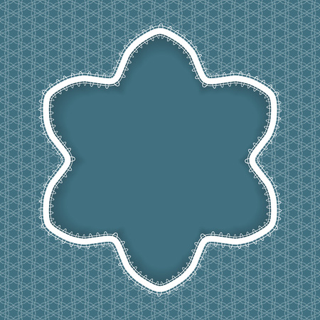 christmas greeting card: Lace snowflake pattern for Christmas, New Year or greeting card. Illustration