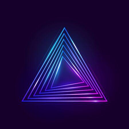 Colorful bright luminous triangles.